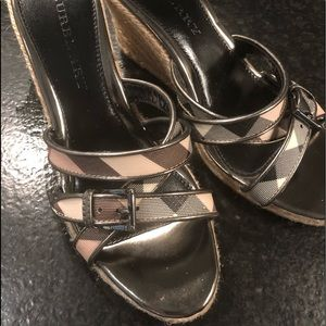 Burberry Itcon wedges  ladies size 38 like new